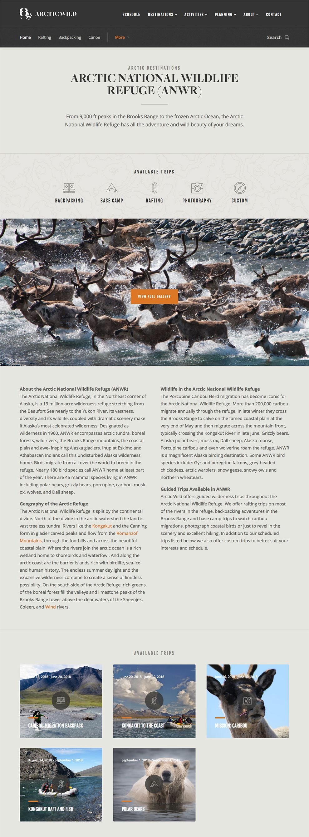 Arctic Wild Elegant Product Page