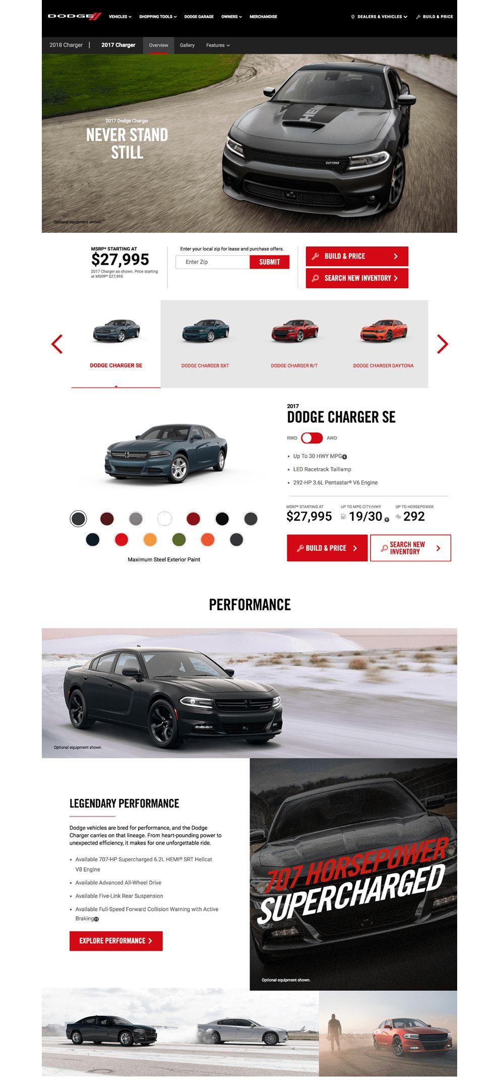 Dodge Charger Elegant Homepage