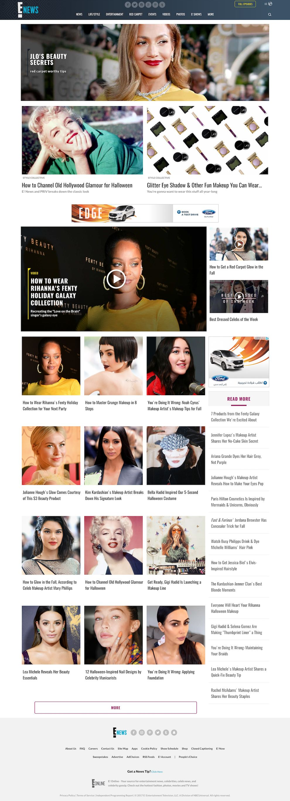 E Online Clean Website Design