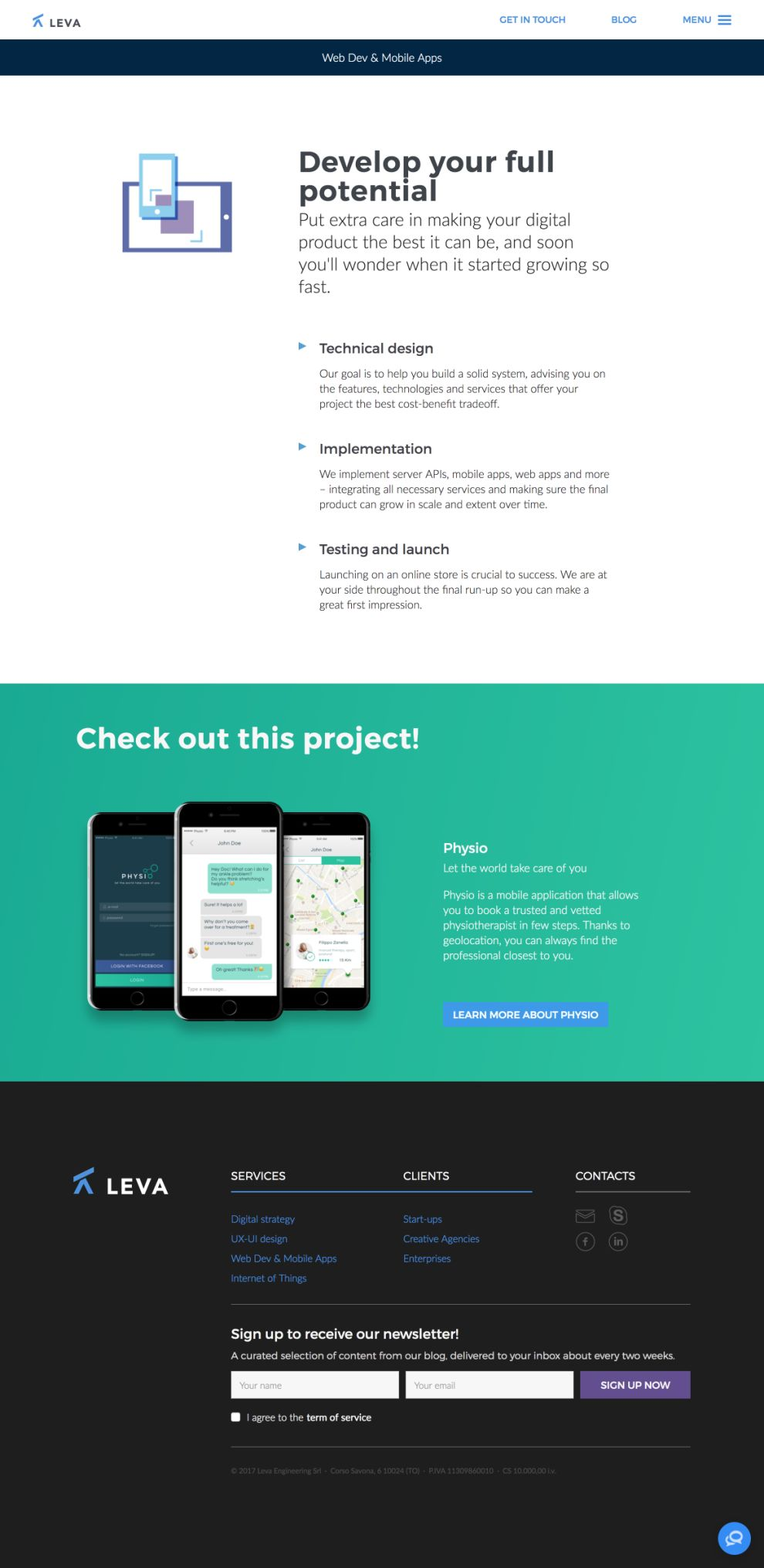 Leva Beautiful Website Design