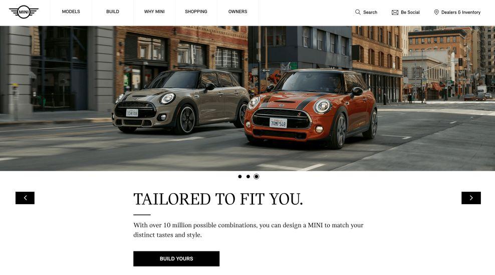 Mini USA Clean Homepage