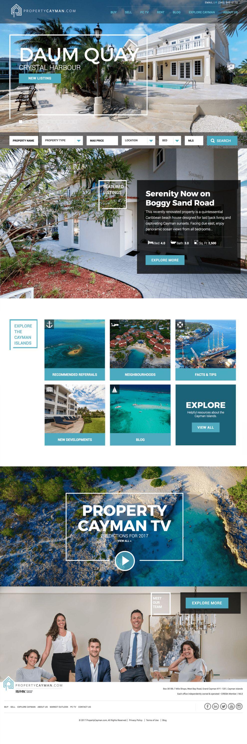 Property Cayman Beautiful Homepage