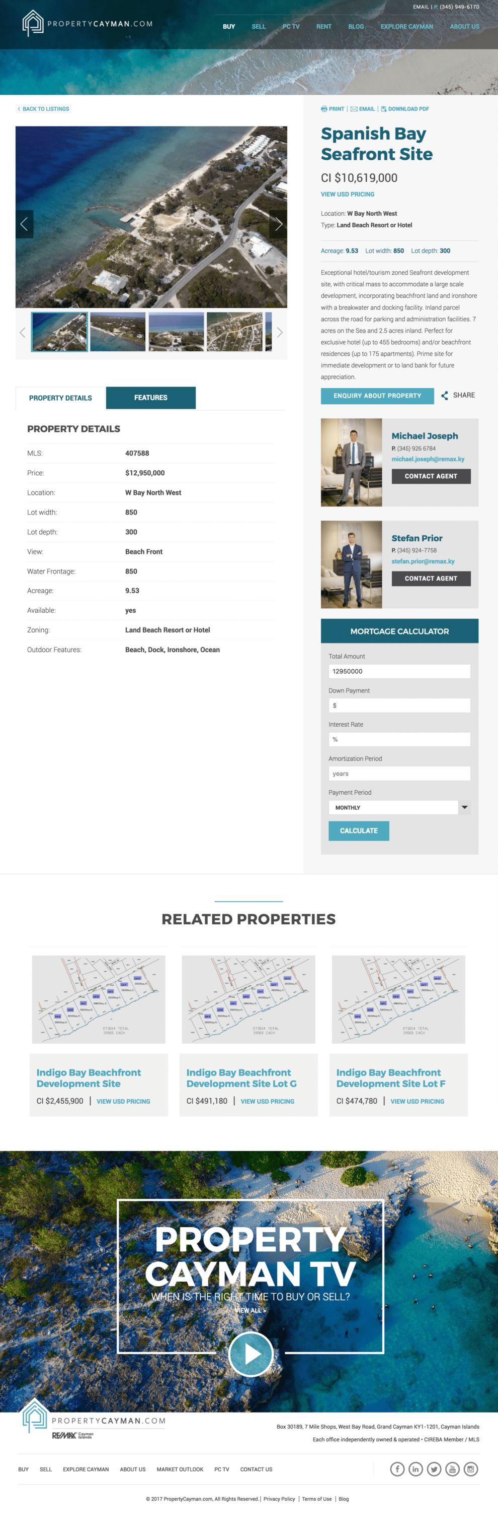 Property Cayman Beautiful Product Page
