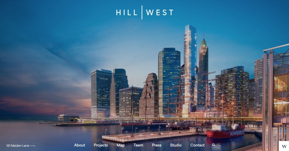 Hill West Architects Stunning Homepage