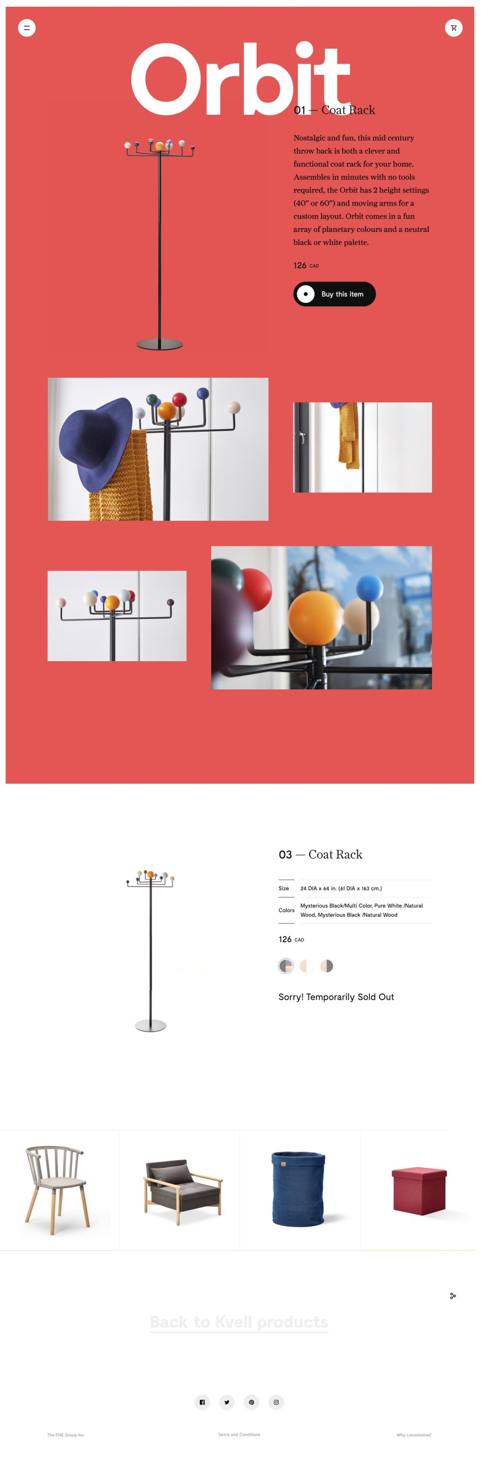 Kvell Colorful Product Page