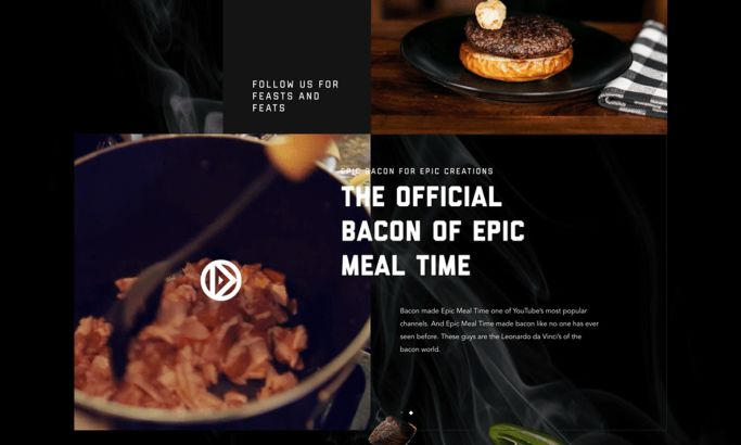 Black Label Bacon Gorgeous Homepage