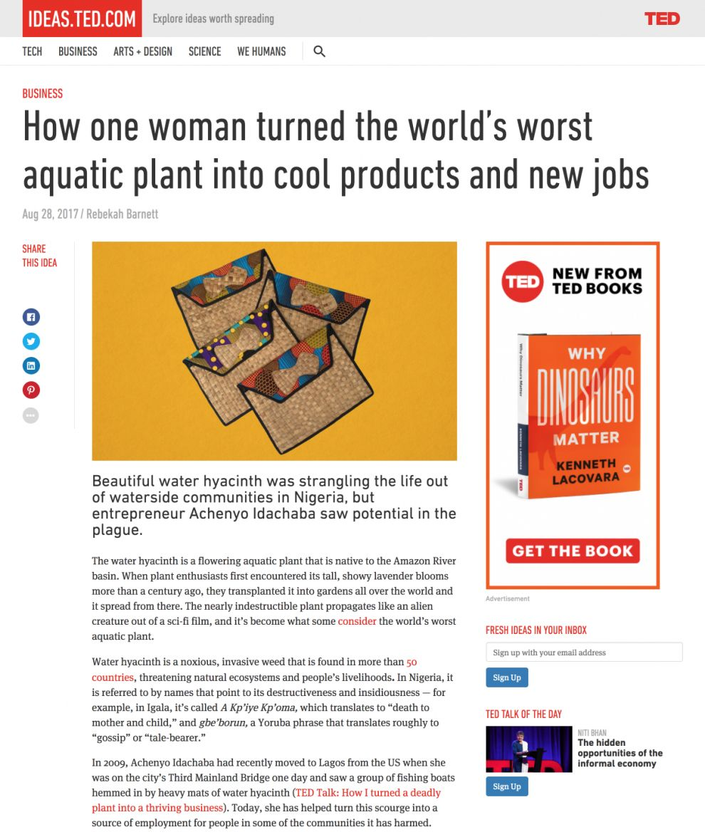 TED Talks Clean Article Page