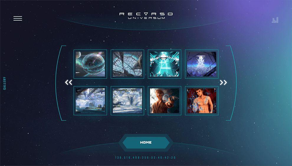 Recurso Universum Beautiful Website Design
