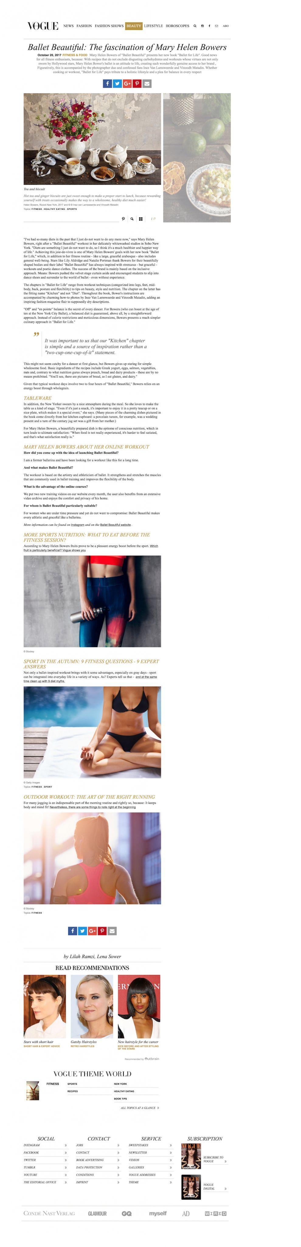 Vogue Minimal Website Design