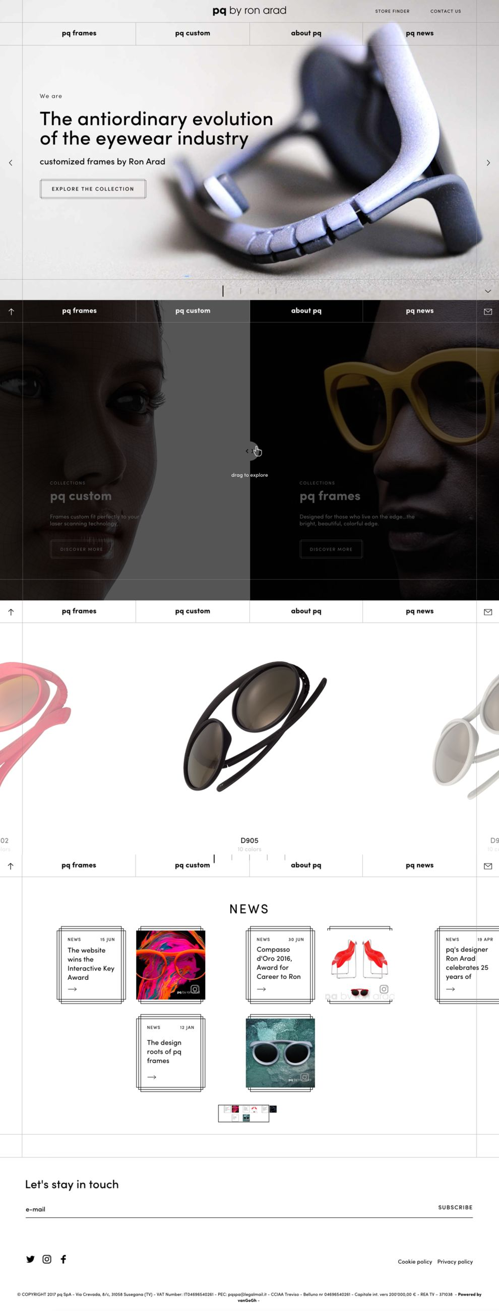 pq by Ron Arad Awesome Homepage