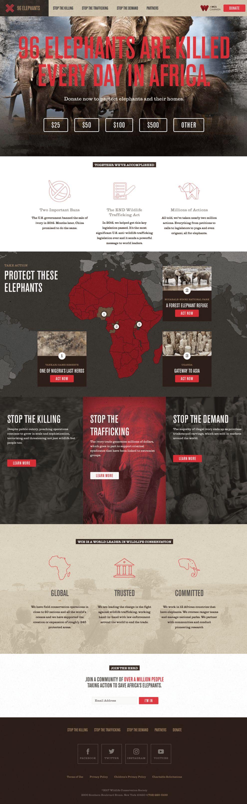 96 Elephants Beautiful Homepage