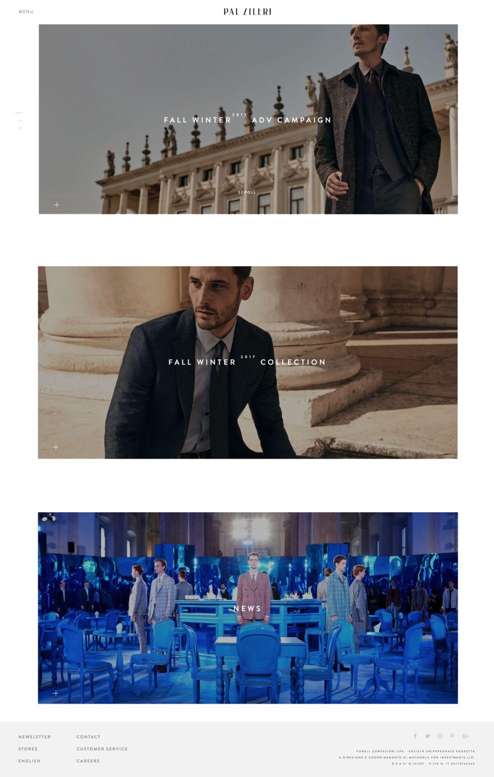 Pal Zileri Elegant Homepage