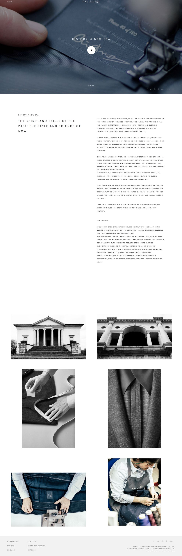 Pal Zileri Elegant Website Design