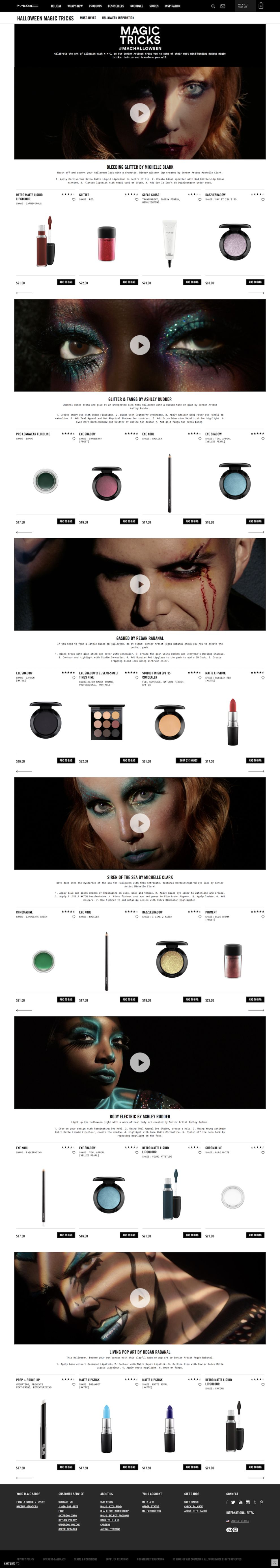 Mac Cosmetics Clean Product Page