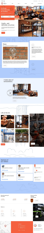 Auberge Internationale Colorful Homepage