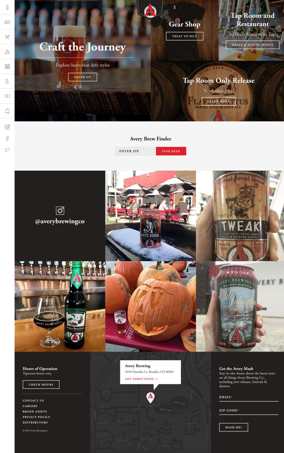 Avery Brewing Corporate Homepage