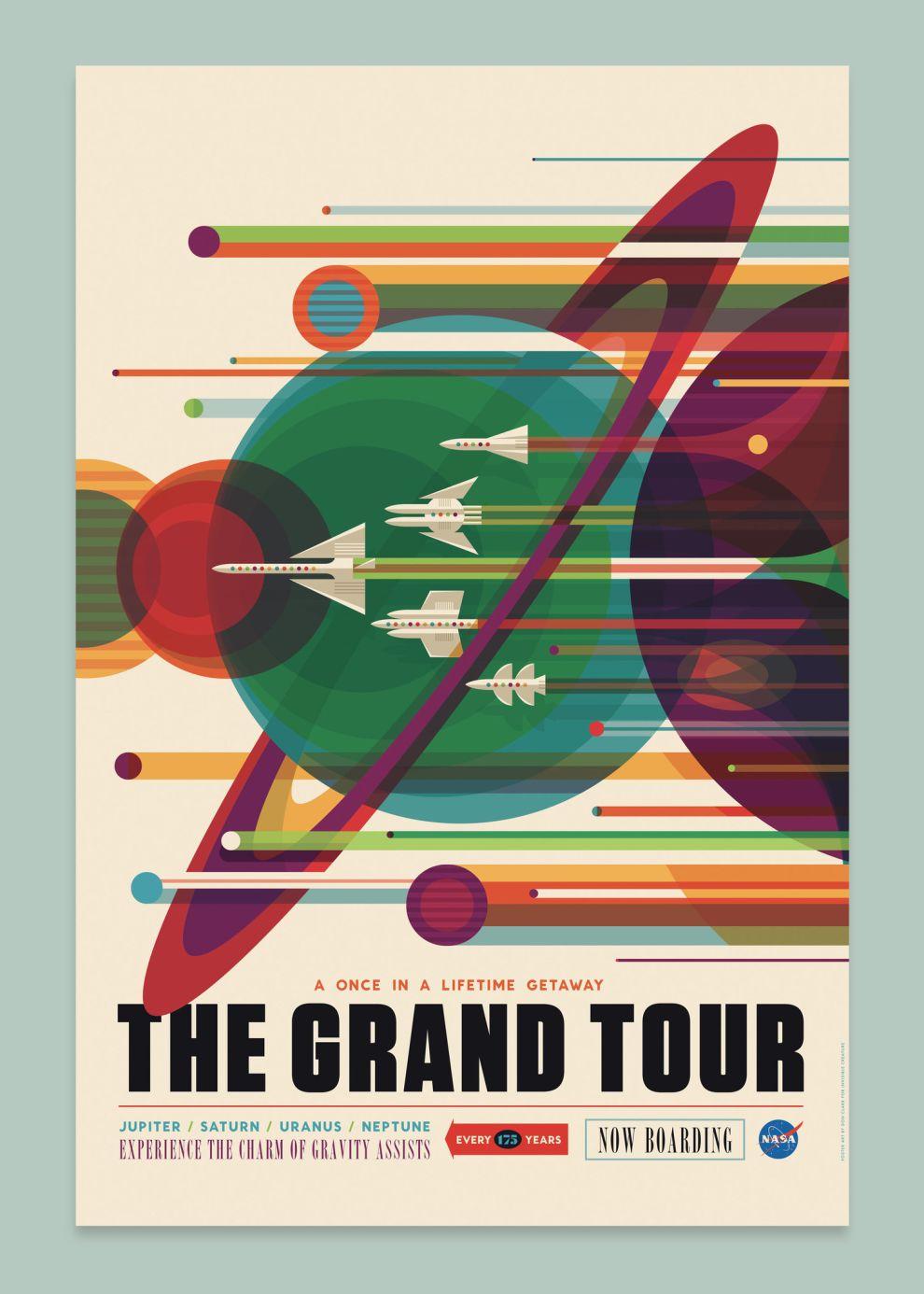 NASA Visions of the Future Cool Print Design