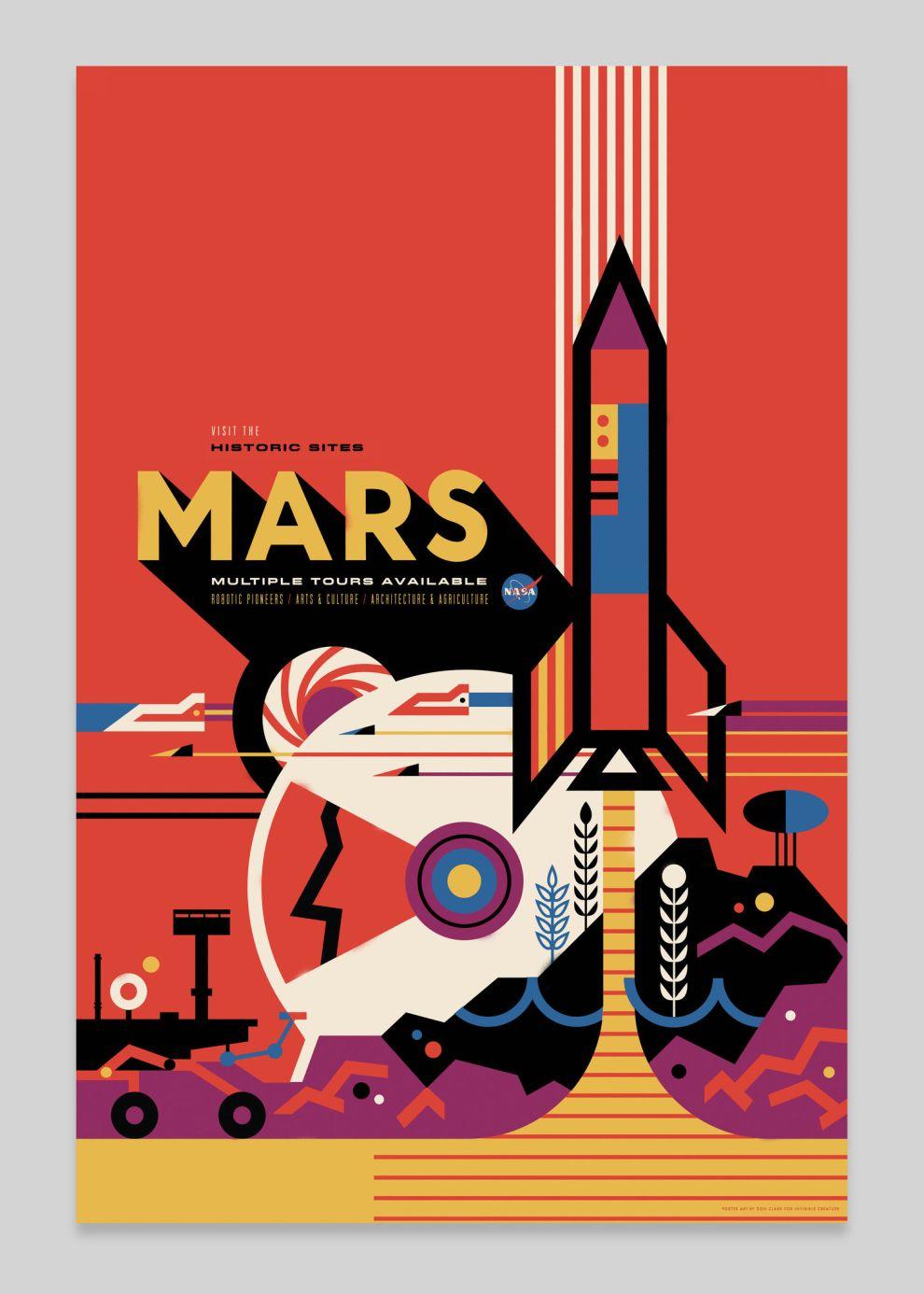 NASA Visions of the Future Vintage Print Design