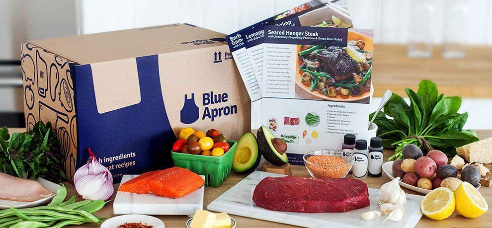 Blue Apron Simple Logo Design