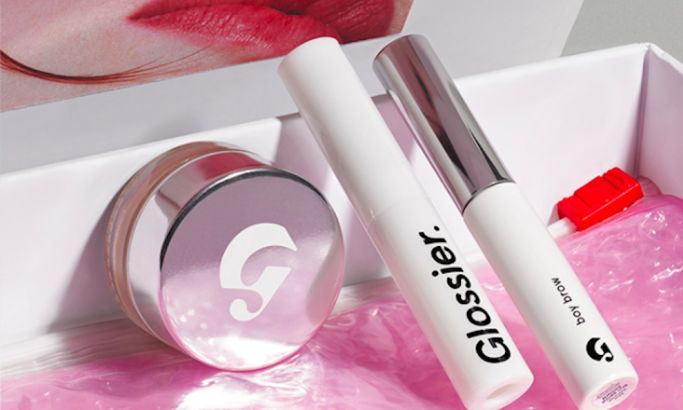 Glossier Products Clean Package Design