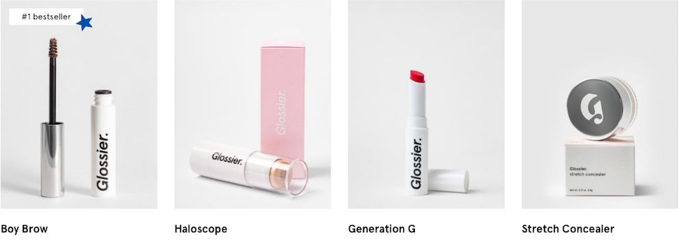 Glossier Products Package Design