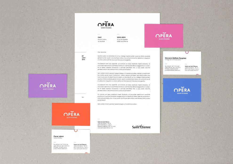 Opéra de Saint-Étienne Clean Print Design