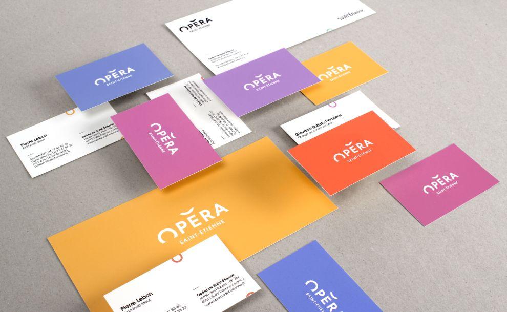 Opéra de Saint-Étienne Colorful Print Design