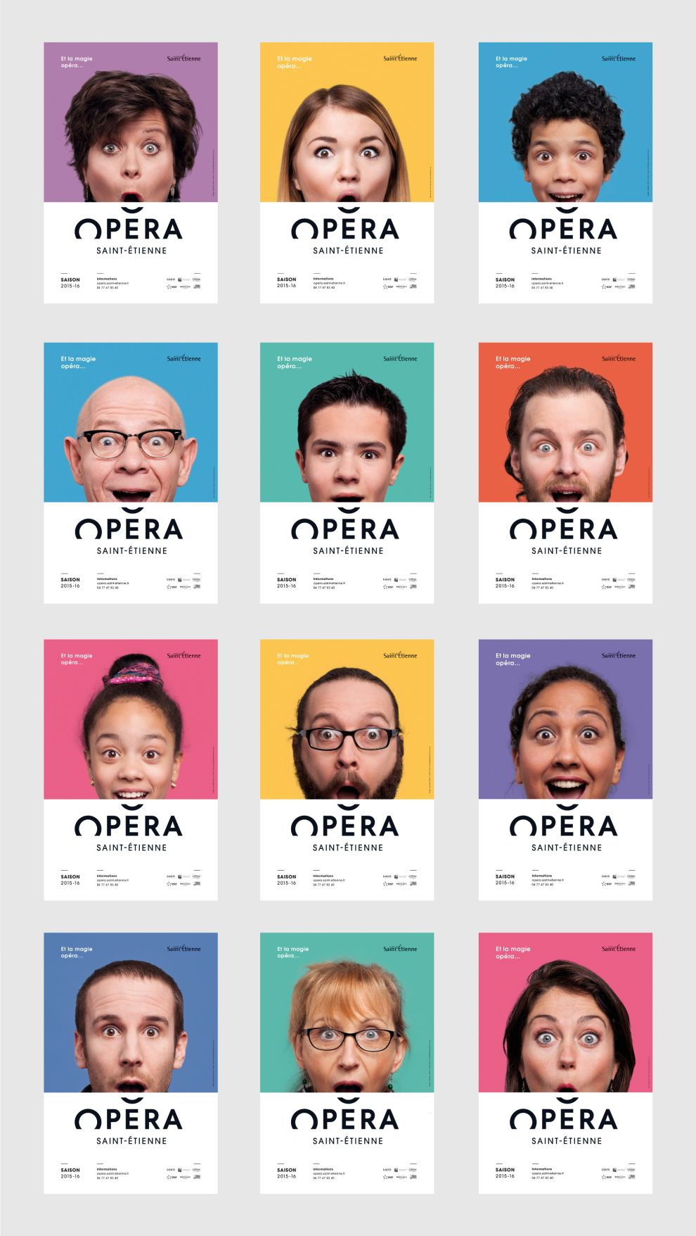 Opéra de Saint-Étienne Playful Print Design