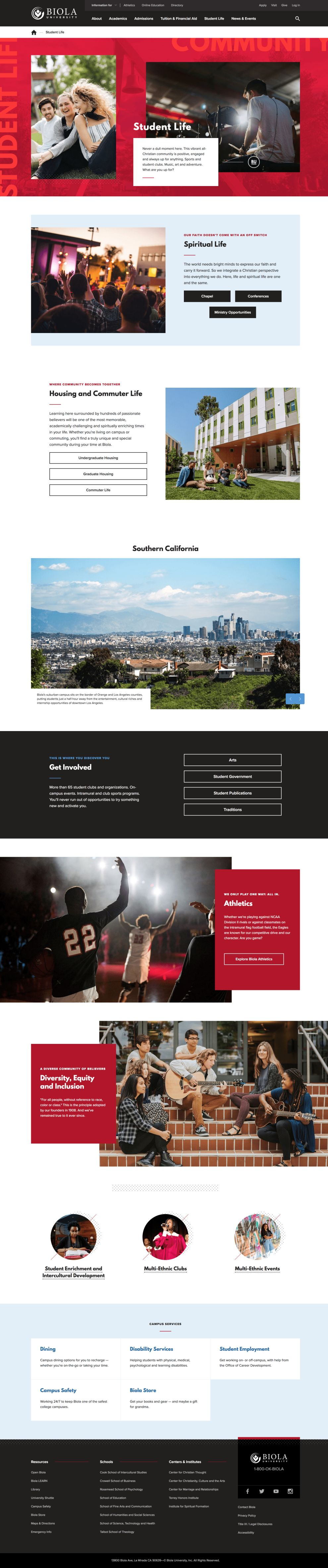 Biola University Beautiful Website Design