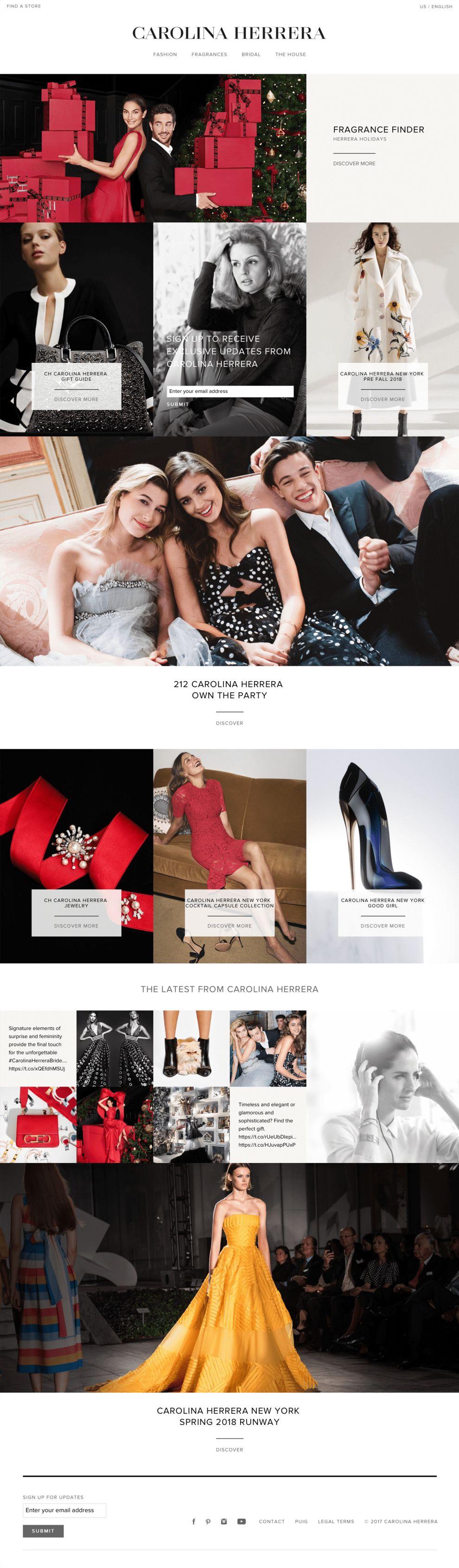 Carolina Herrera Elegant Homepage