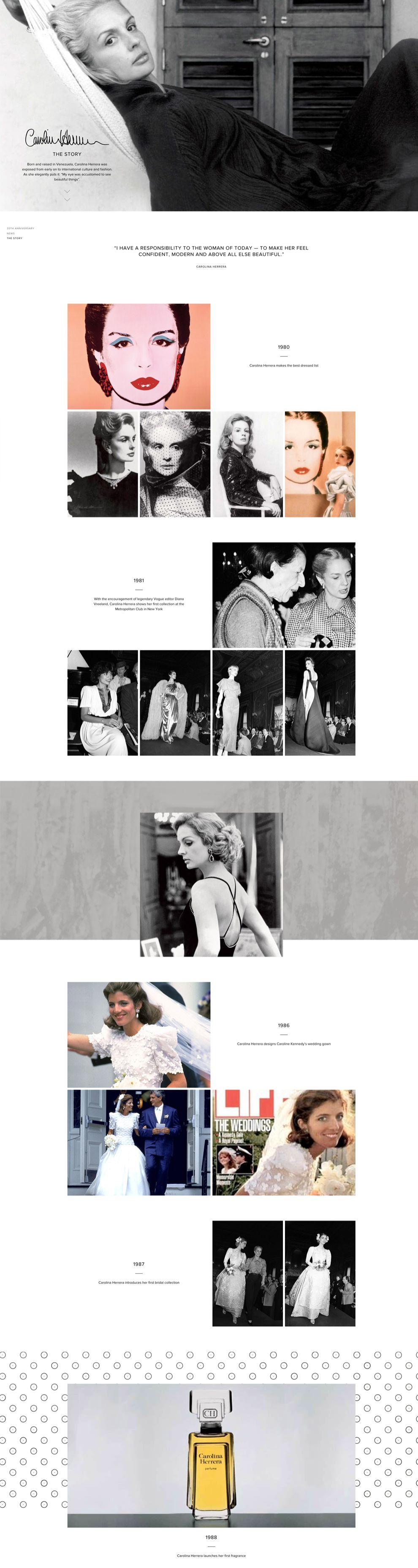 Carolina Herrera Elegant About Page