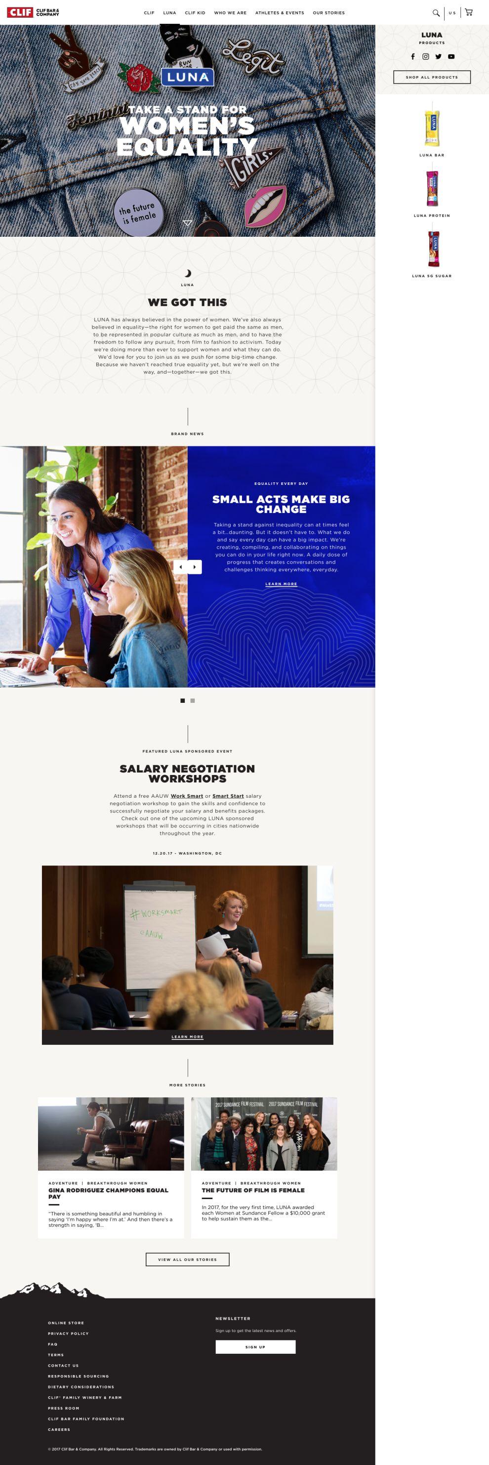 Clif Bar Stunning Website Design
