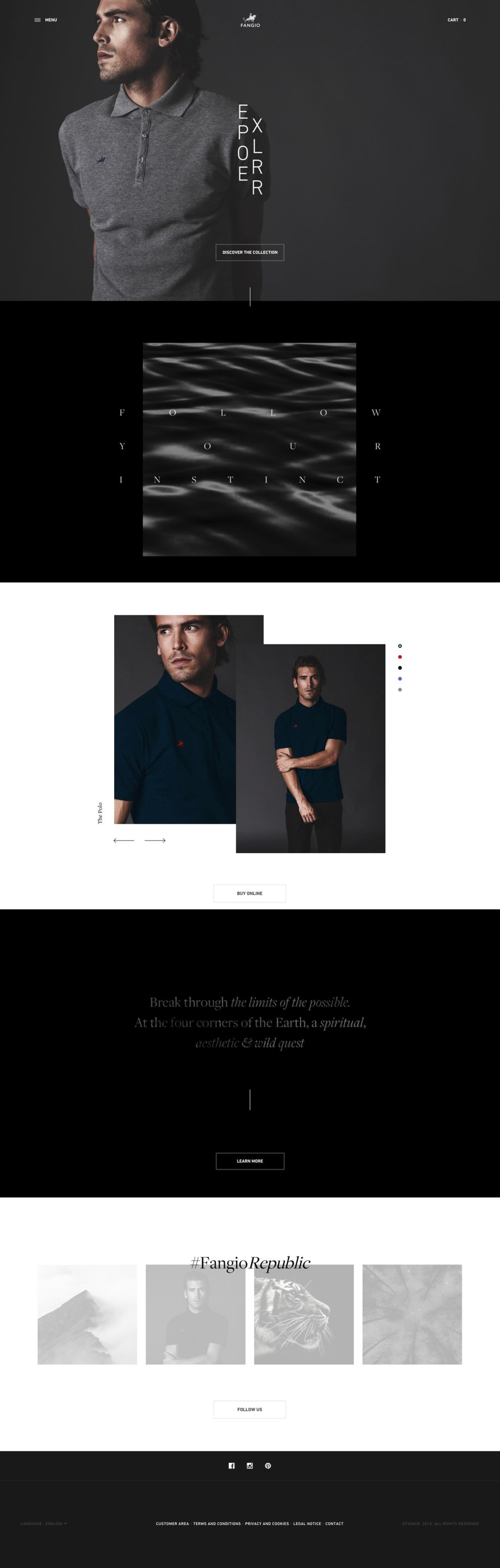Fangio Elegant Homepage