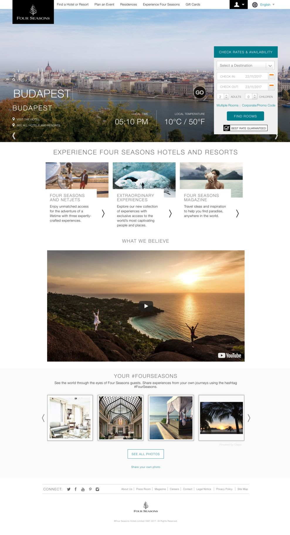 Four Seasons Hotels and Resorts Homepage