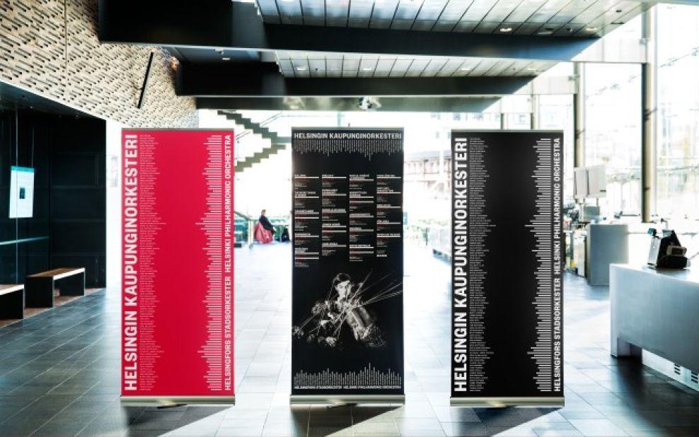 Helsinki Philharmonic Orchestra Dark Print Design