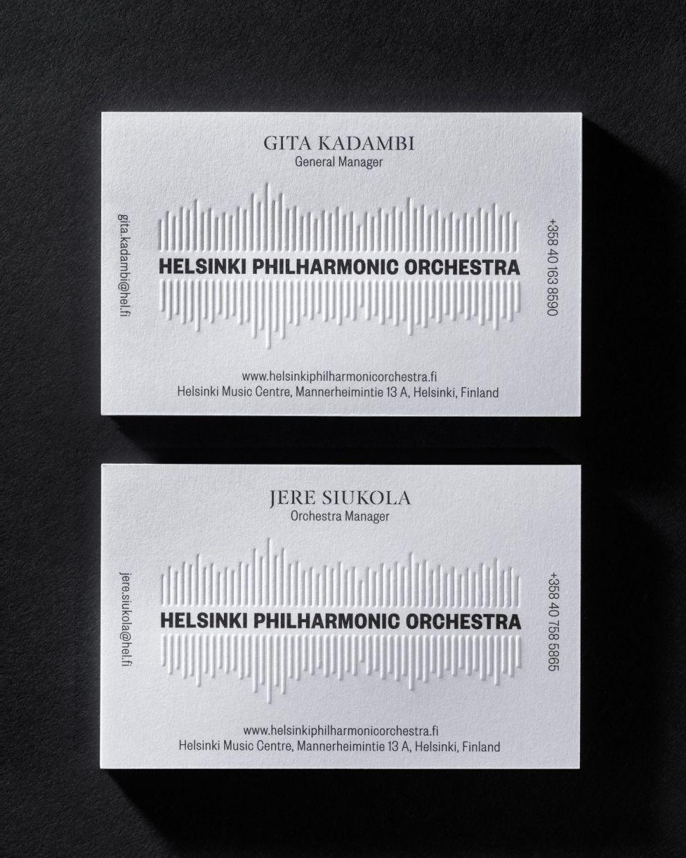 Helsinki Philharmonic Orchestra Elegant Print Design