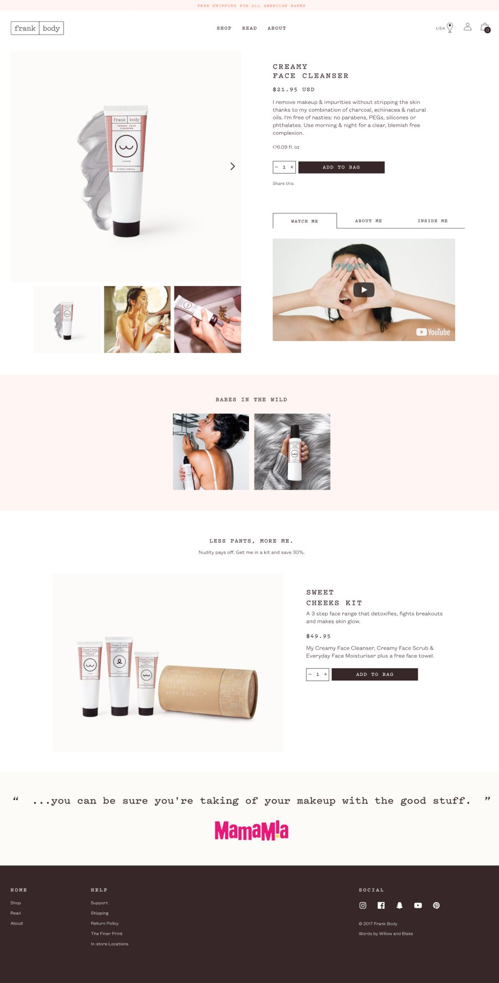 Frank Body Clean Product Page