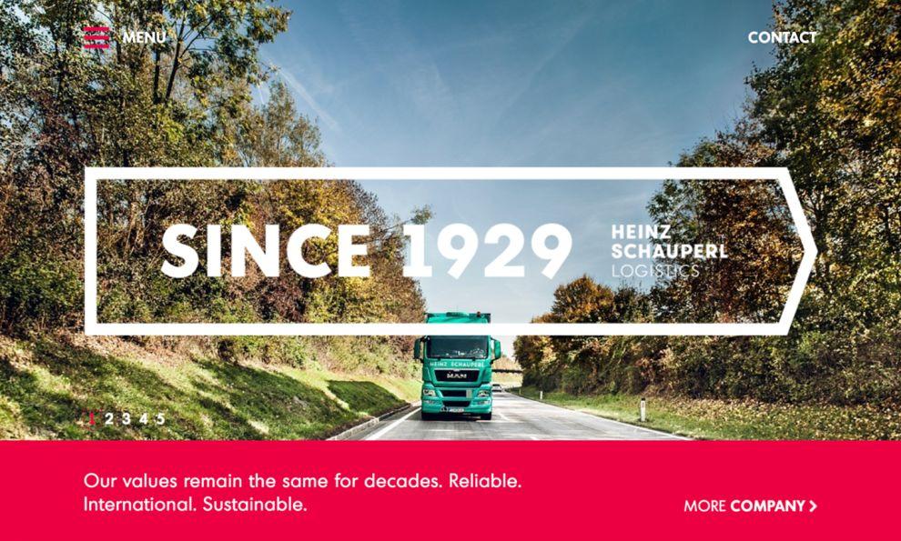 Heinz Schauperl Logistics Colorful Website Design