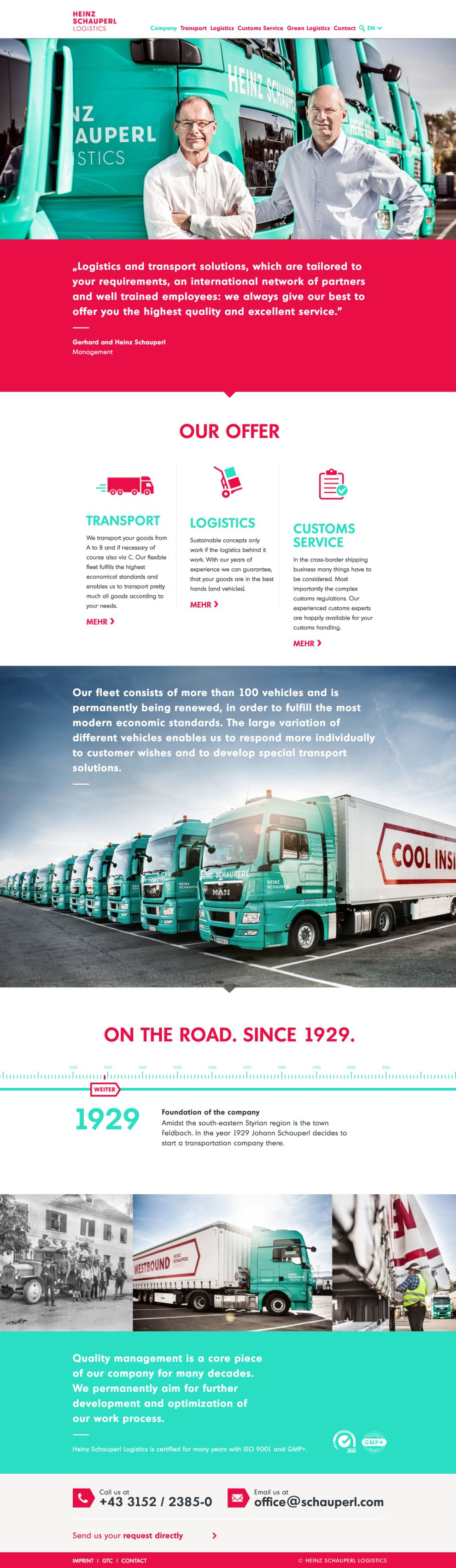 Heinz Schauperl Logistics Colorful About Page