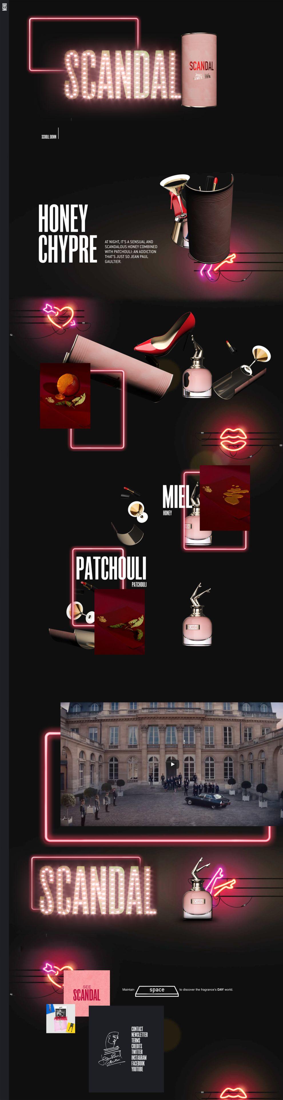 Jean Paul Gaultier Gorgeous Website Design