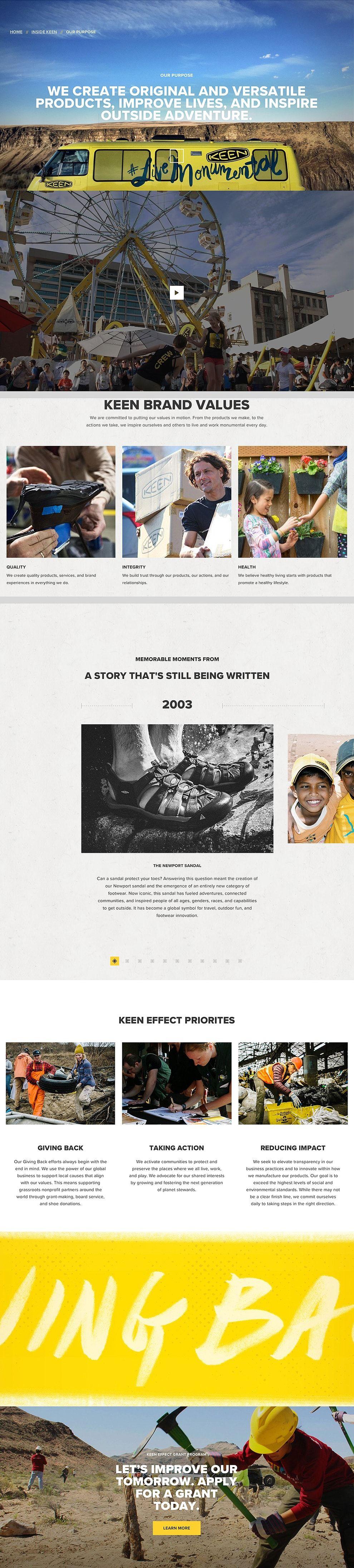 Keen Footwear Engaging Website Design