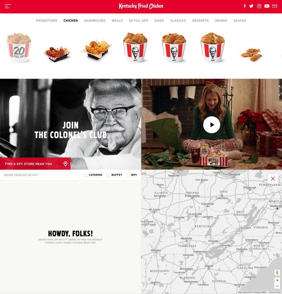 KFC Elegant Homepage