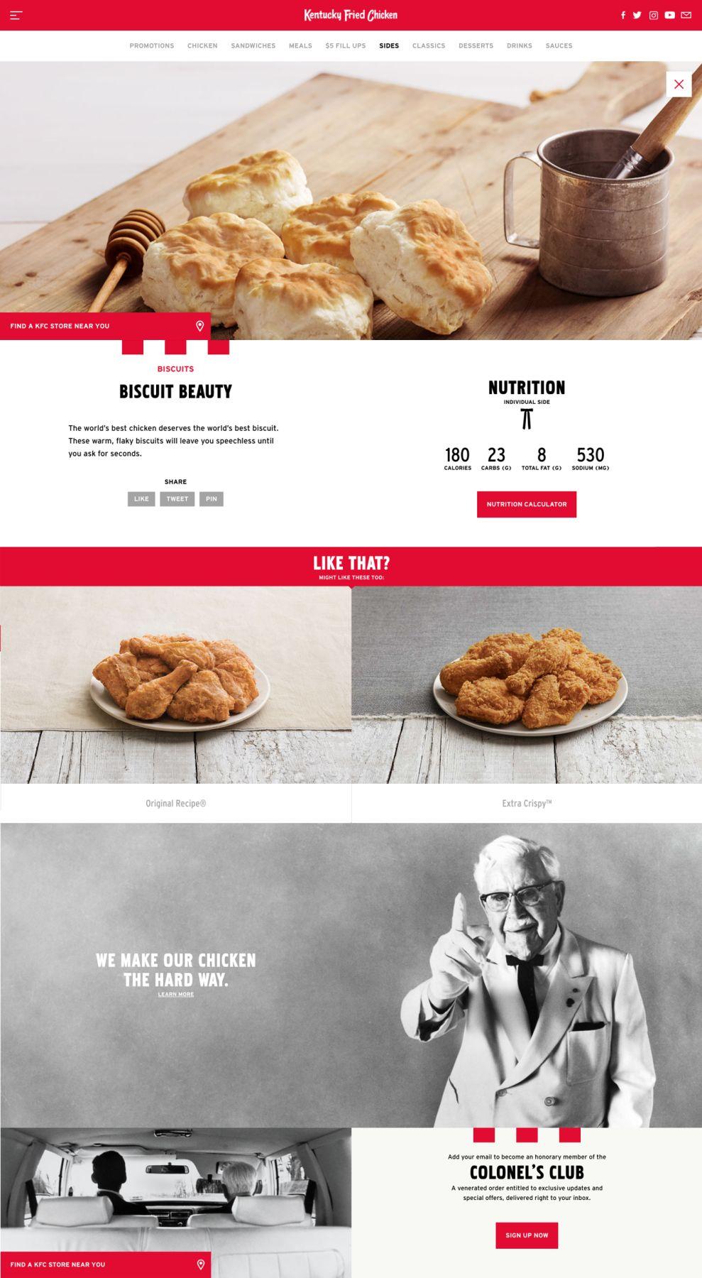 KFC Elegant Website Design