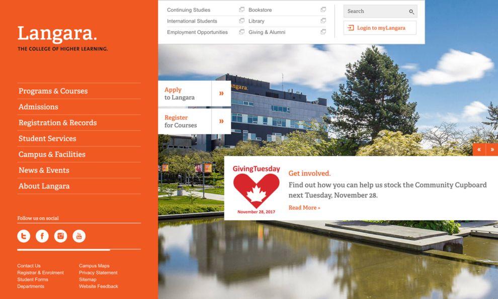 Langara Professional Homepage