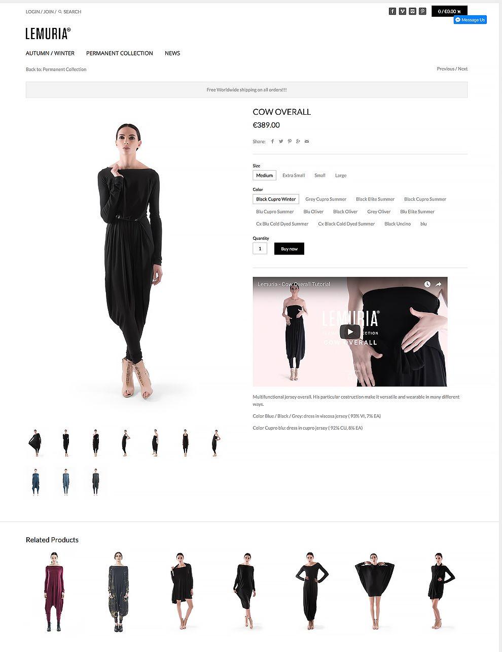 Lemuria E-Commerce Website Design