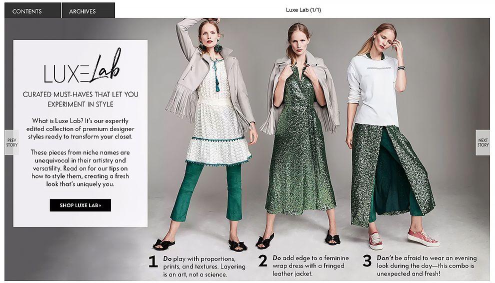 Neiman Marcus Lookbook Retail Website
