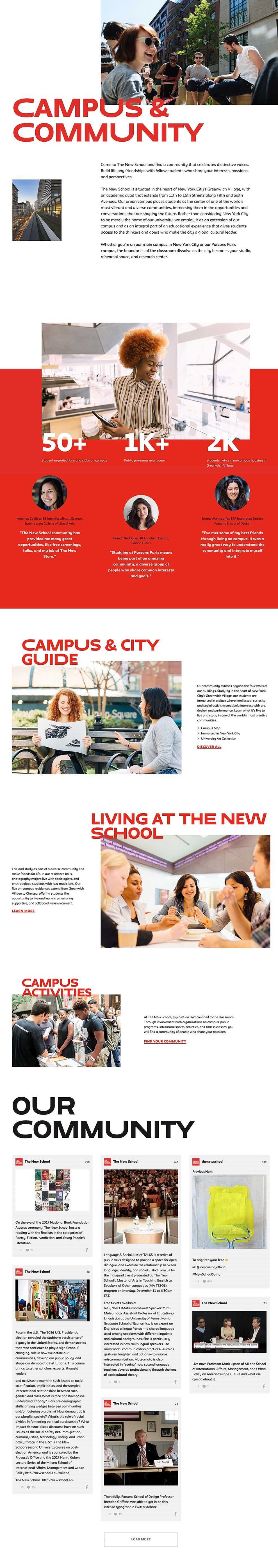 The New School Best Website Design