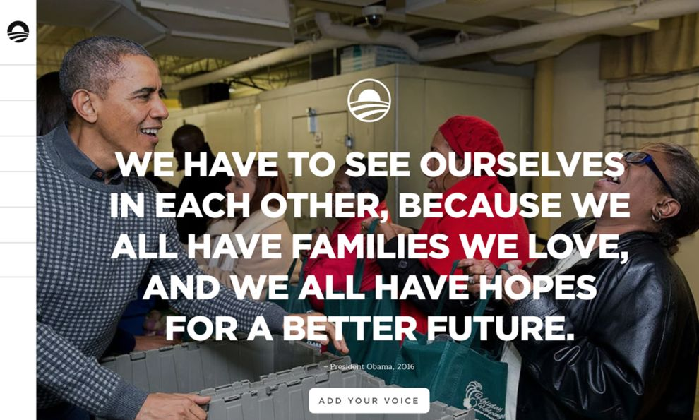 The Obama Foundation Minimal Website Design