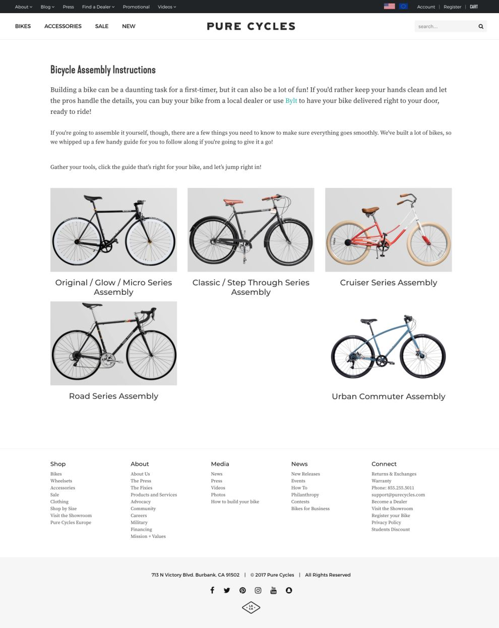 Pure Cycles Clean Product Page