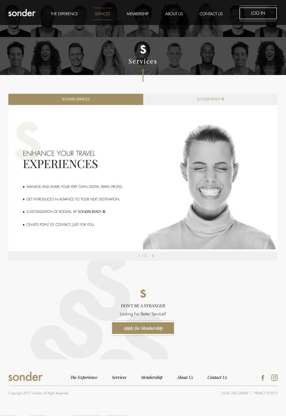 Sonder Travel Stunning Website Design